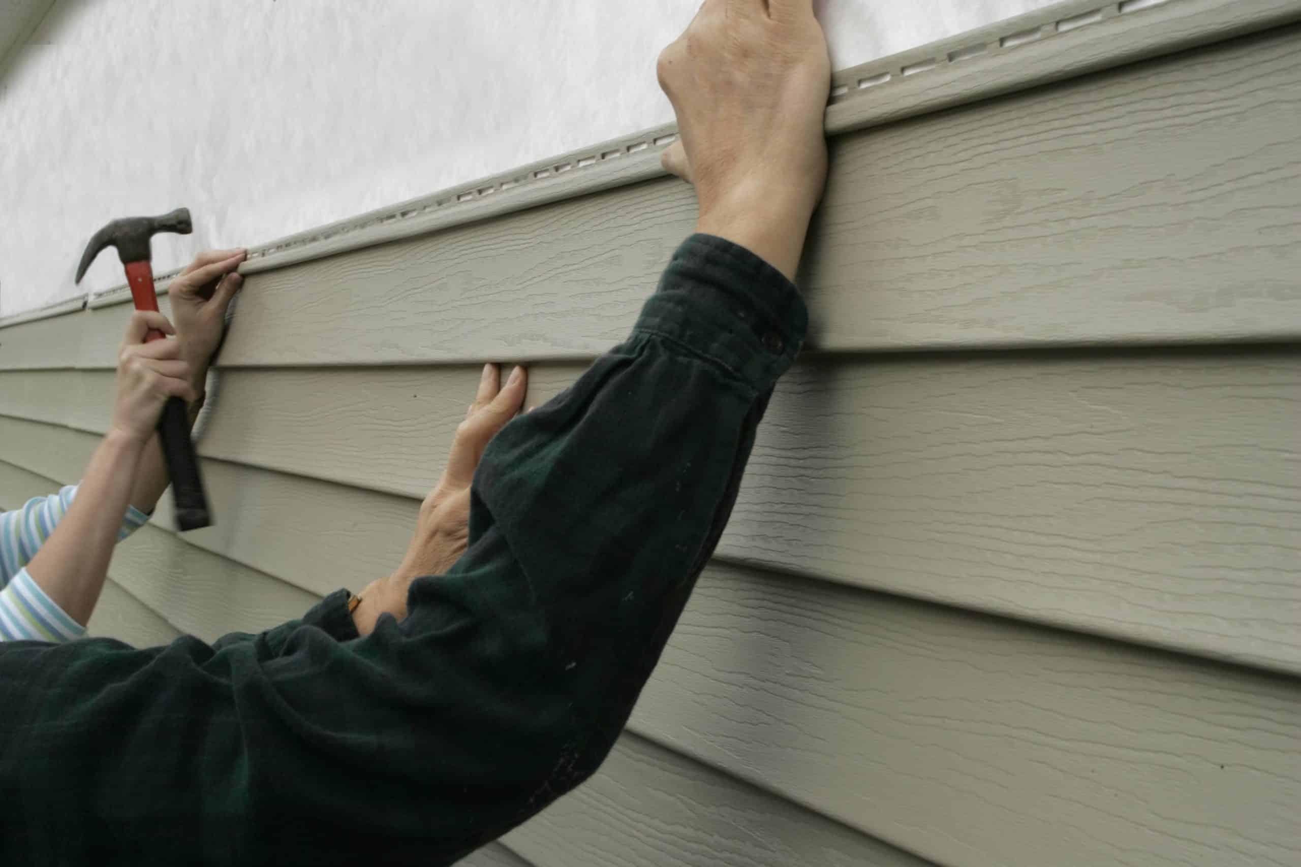 siding over stucco
